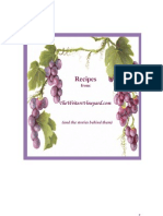 FREE Cookbook - Recipes from TheWritersVineyard.com