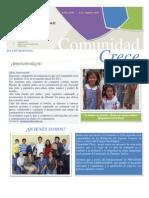 Comunidad Crece A.C. Boletin 1. Zapopan, Jalisco. México.