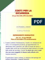 Stima Oneri Sicurezza_DLgs 494.96 - DPR 222.03