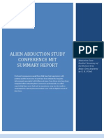 Alien Abduction Study Conference Mit Summary Report