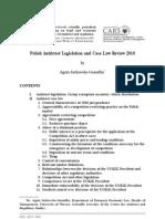 Polish Antitrust Legislation and Case Law Review 2010