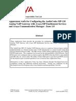 Avaya CM SES - MP118 Configuration Guide