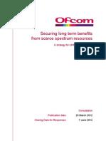 Ofcom Spectrum Condoc