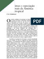 paleoclimas e especiação em animais da américa do sul - vanzolini