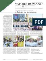 L´OSSERVATORE ROMANO. 01 Abril 2012