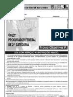 Prova da AGU para o cargo de Procurador Federal