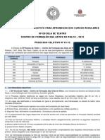 Edital Final Do Processo Seletivo - Atualizado Em 23-11-11