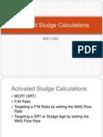 Activated Sludge Calculations