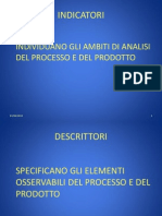 Def Indicatori e Descrittori