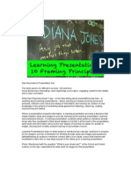Learning Presentations 10 Framing Principles