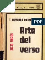Tomás Navarro Tomás, Arte del verso, 1975.
