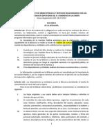 REGLAMENTO DE LA LEY DE OBRAS PÚBLICAS Y SERVICIOS RELACIONADOS CON LAS MISMAS CÁMARA DE DIPUTADOS DEL H