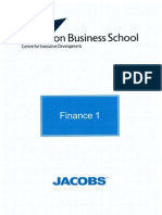 Finance Module 1 - Aston Business School