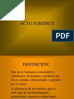 ACTO JURIDICO - Derecho