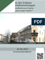 Eslarner Gemeinderatssitzungen - 03.04.2012