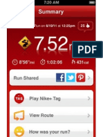 Nike+ GPS - Screenshots