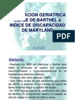 9.- VALORACION GERIATRICA - BARTHEL