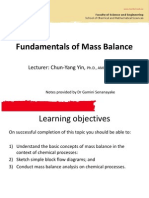 2.Fundamentals of Mass Balance
