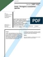 Abnt Nbr 14047 - Moveis - Ferragens e Acessorios - Suporte