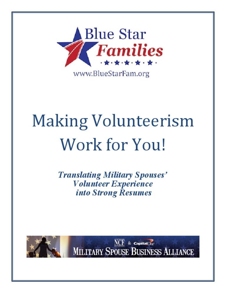 Making Volunteerism Work For You Resume Builder For Military
