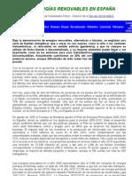 Informe Renovables España