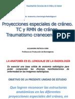 3. Proyecciones especiales de cráneo. TC y RMN de cráneo. Traumatismo craneoencefálico.
