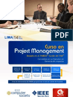 Brochure Course Project Management PMI LIMA