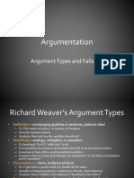 Argumentation - Types and Fallacies