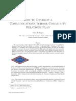 How 2 Develop a Communication School Community Plan
