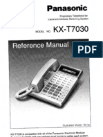 Panasonic KX-T7030 Reference Manual