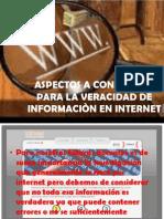 ASPECTOS A CONSIDERAR PARA LA VERACIDAD DE INFORMACIÒN