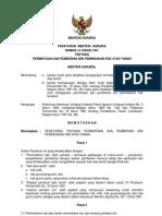 Peraturan Menteri Agraria Nomor 14 Tahun 1961 Ttg an Dan Pemberian Izin Pemindahan Hak Atas Tanah