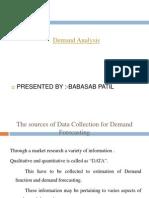 Demand Analysis Ppt Mba