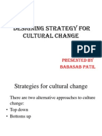 Designing Strategy for Cultural Change PPT MBA