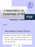 Essentials of Km Ppt  Mba