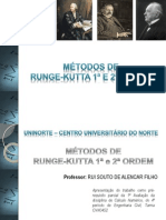 Trabalho Metodo Runge-Kutta 1ª e 2ª Ordem - Apresentação
