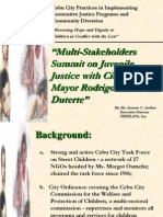 CEBU CITY Multi-Stakeholders Summit on Juvenile Justice With City
