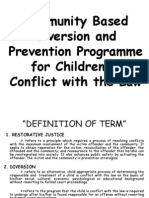 Community Based Diversion and Prevention Programme for Children