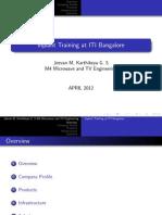 ITI Bangalore Ppt