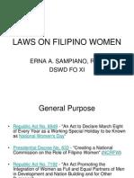 Laws on Filipino Women
