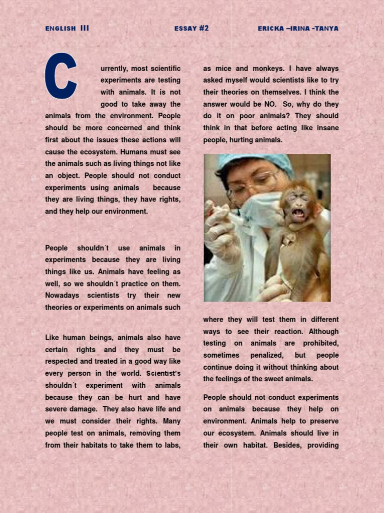 essay animals manure experiment