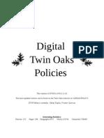 Twin Oaks Policies 02011.11.01