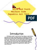 The Child and Youth Welfare Code RA7610