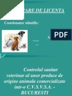 Controlul Sanitar Veterinar Al Unor Produse de Origine Animala Comercializate