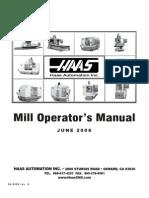 HAAS Mill Operator's Manual 2008