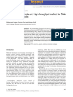 A Effective, Simple and High-throughput Method for DNA Extraction From Insects