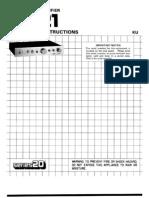 C-21 Operating Instruction Manual