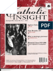 """Who Was Pope Benedict XV?"" by Dimitri Cavalli in Catholic Insight magazine (July-August 2007)"
