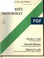 """""""The Commission That Couldn't Straight"""" (New Oxford Review) by Dimitri Cavalli"""