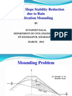 Ppt on Estimating Slope Stability Reduction Due to Rain Infiltration Mounding